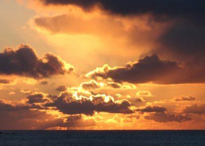 Bilde av solnedgang på høsten i Nord-Norge