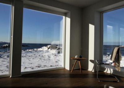 Bilde fra stua i huset på Skaaltofta