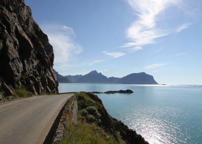 Bilde av veien til Nyksund