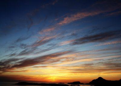 Bilde av fin himmel etter solnedgang